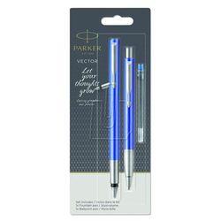 Zestaw vector pióro+długopis blister niebieski 2046838 marki Parker