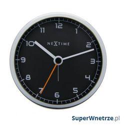 Zegar stojący 9 cm company alarm czarny marki Nextime