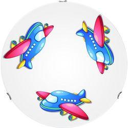 Lampa dla dziecka Samolot - plafon Jet biały/ chrom E27 60W 40cm, 4534002