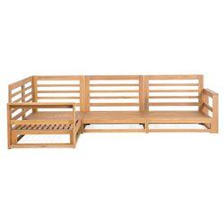 Beliani Meble ogrodowe z litego drewna brązowe timor (4260602372332)