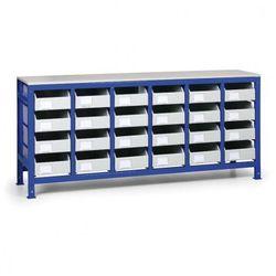 B2b partner Regał z metalowymi szufladami, 24 szuflad