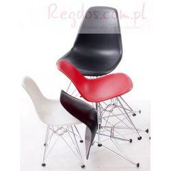 Krzesło JuniorP016 czarne, chrom. nogi, towar z kategorii: Krzesła i stoliki