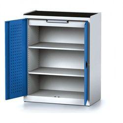 Szafa warsztatowa MECHANIC, 1170 x 920 x 500 mm, 2 półki, 1 szuflada, niebieskie drzwi