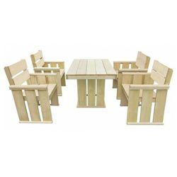 Zestaw drewnianych mebli ogrodowych - Maggie 3X, vidaxl_43261