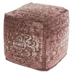 Vintage kwadratowy puf postarzany różowy 45 x 45 x 45cm - kanpur marki Qazqa