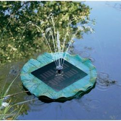 Fontanna ogrodowa solarna pływająca Solar Trend 01560, maks. 150 l/h, maks. 0,5 m, (ØxW) 340 mmx70 mm (4021902015608)