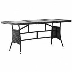 Stół ogrodowy ze szklanym blatem Tekko 3Q - czarny
