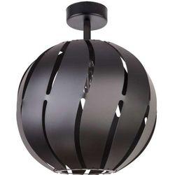 Sigma Plafon lampa sufitowa globus skos 31311 metalowa oprawa ażurowa z wycięciami kula ball czarna
