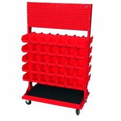 Stojak z kratownicą i 10 listwami na 70 pojemników p3 (dwustronny) p-5-02-02 marki Fastservice