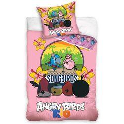 Tip Trade Dziecięca pościel bawełniana Angry Birds Karaoke, 140 x 200 cm, 70 x 80 cm
