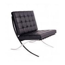 King home Fotel barcelon prestige plus czarny - 100% skóra włoska selekcjonowana, chrom