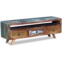Szafka pod tv z drewna z odzysku z 3 szufladami marki Vidaxl