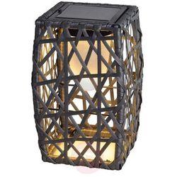 Dekoracyjna lampa solarna Talora 27,5 cm, rattan (9007371365739)