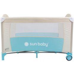 Łóżeczko jednopoziomowe Sweet Dreams turkusowe Sun Baby SD707/ST - produkt z kategorii- Łóżeczka turysty