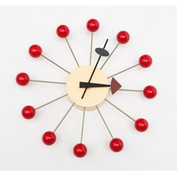 D2.design Zegar kulka inspirowany ball clock - czerwony