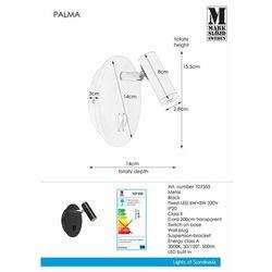Kinkiet PALMA 107355 - Markslojd - Black Friday - 21-26 listopada (7330024577930)