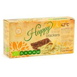 Krakersy chleb niepieczony słonecznikowy bezglutenowy bio 6 sztuk - raw_happy, marki Raw & happy - (habżyki,