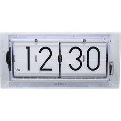 - zegar stojący big flip clear - transparentny marki Nextime