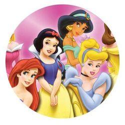 Dekoracyjny opłatek tortowy princess - księżniczki - 20 cm - 2 marki Modew
