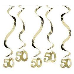 Dekoracja wisząca świderki złote - 50 tka - 5 szt.