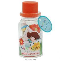Kori Kumi, Dreamboat, mini gumki do ścierania w szklanych butelkach, czerwone