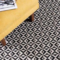 dywan modern geometric black/wool 120x170cm, 120x170cm marki Dekoria