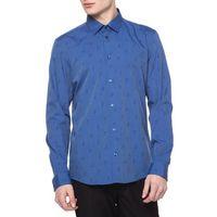 Versace  koszula niebieski wielokolorowy 42