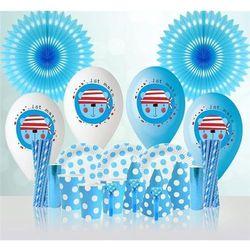 Niebieski zestaw urodzinowy dla chłopca - 1 kpl z kategorii Gadżety