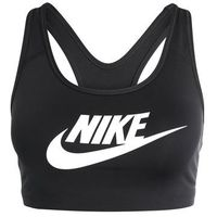 Nike Performance PRO CLASSIC SWOOSH FUTURA Biustonosz sportowy black/white, 899370