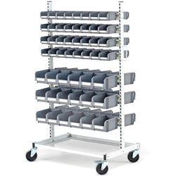 Array Wózek z 14 szynami do zawieszania pojemników