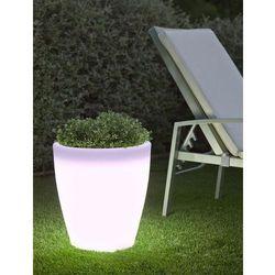 NEW GARDEN donica VIOLETA 40 C biała - LED (5900000047393)