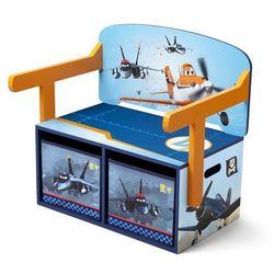 Ławeczka dla dzieci ze schowkiem Samoloty - produkt z kategorii- Biurka