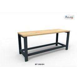 """Metalowy stół st20/01 """"trójka"""" warsztatowy blat nośność 1350 kg marki Malow"""