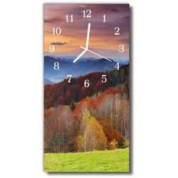 Zegar Szklany Pionowy Krajobrazy Widok góry kolorowy