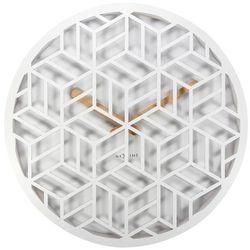 Zegar ścienny Discrete biały, 3215WI