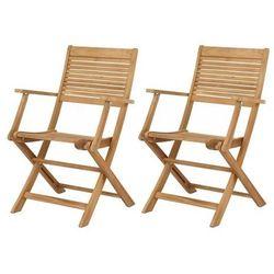 Blooma Krzesła składane roscana z podłokietnikami 2 szt.
