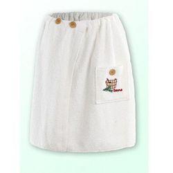 Produkcja własna Sauna kilt ręcznik biały z logo 100% bawełna męski 50*140 na guziki