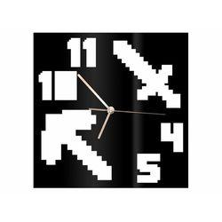 Congee.pl Zegar z pleksi na ścianę piksele ze złotymi wskazówkami