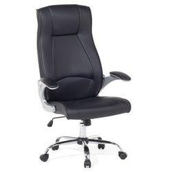 Beliani Krzesło biurowe czarne - meble biurowe - fotel komputerowy - commander