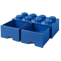 POJEMNIK LEGO 8 Z SZUFLADĄ NIEBIESKI - LEGO POJEMNIKI, 4006