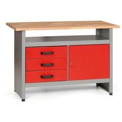 Stół roboczy z szufladami, szafką i półką marki Mars