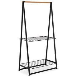 Brabantia - Wieszak na ubrania z półkami, 99,50 cm, czarny - czarny, 118241