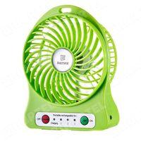 Remax  bezprzewodowy mini wentylator wiatrak na biurko zielony - zielony, kategoria: gadżety