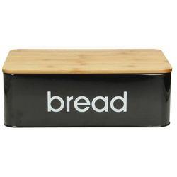 chlebak metalowy bread black 33x11,5x21cm, 33 × 11,5 × 21 cm marki Dekoria