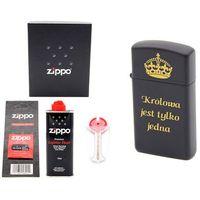 Zapalniczka ZIPPO Z1618 Slim Black prezent benzyna, knoty, kamienie Grawer - produkt z kategorii- Zapalniczki