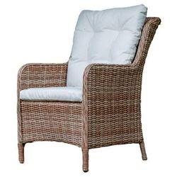 Wygodny fotel ogrodowy genua z technorattanu miedziano szary marki Bello giardino