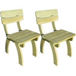 vidaXL Krzesła ogrodowe 2 szt Drewno sosnowe - sprawdź w wybranym sklepie