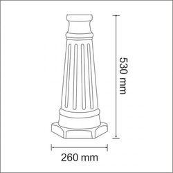 Podstawa podwyższająca do lamp paris2 indexy 304926 i 304933 marki Polux