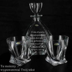 Zestaw do whisky LAGUNA: karafka + 6 szklanek ze szkła kryształowego z opcją graweru... ()