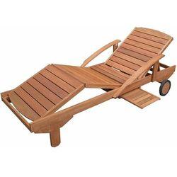 Hecht czechy Hecht era leżak ogrodowy drewniany rozkładany z półka luksusowa leżanka meble meranti - ewimax oficjalny dystrybutor - autoryzowany dealer hecht (8594061745229)